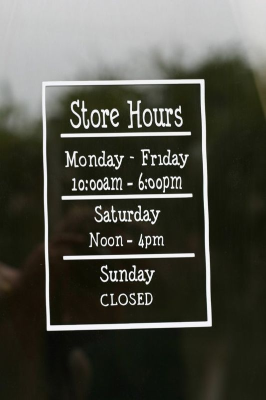 The Shops Hours