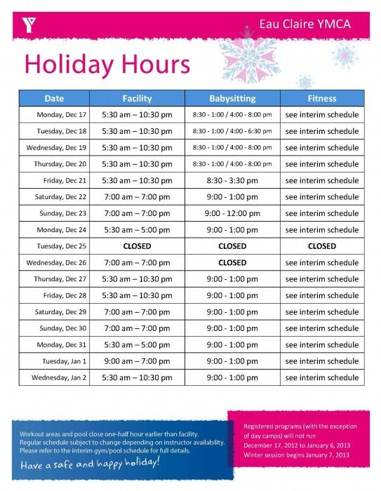 Claire's Holiday Hours